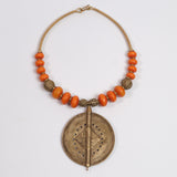 Tribal Necklace (Brass & Amber)