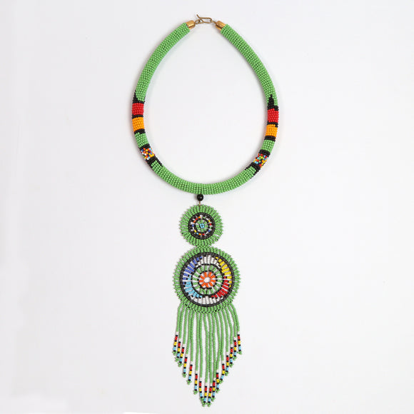 Double Disk Necklace (Beads)