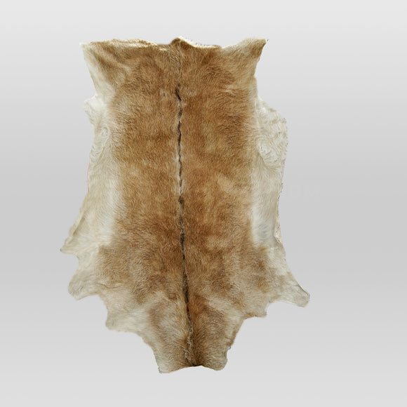 Goat-hide Rug - Dirty Brown (Kīhuria)