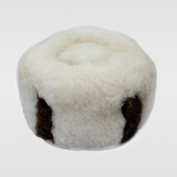 Traditional Hat - White & Dark Brown Sheep (Gītukū Kīa Gīcerū na Kībirū)