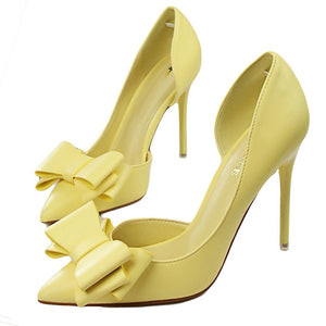 High Heel Shoes Side Hollow Pointed Stiletto Heels Shoes