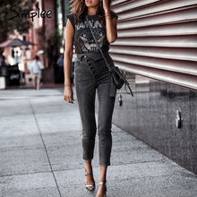 Load image into Gallery viewer, Female Gray Pencil Jeans -  Look-fly.ca
