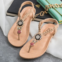 Load image into Gallery viewer, Summer Flat Sandals Bohemian Flip Flops Women Shoes