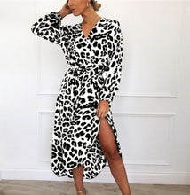 Load image into Gallery viewer, Bodycon Long Sleeve V Neck Loose Club Wear Dresses