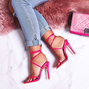 Women's 12cm High Heels Shoes Sandals Women Pumps Big Large Size