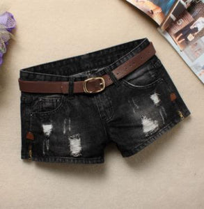 Belt Ripped Denim Short -  Look-fly.ca