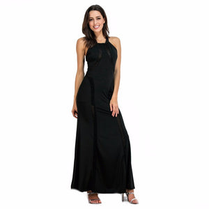 Long Dresses Party Sleeveless Clothing Black Blue Red