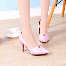 Load image into Gallery viewer, High Heels Pointed Toe Women Breathable Shoes Plus Size