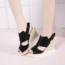 Load image into Gallery viewer, Slope Heel Women Shoes Sandals Plus Size C9-16 Roman Style