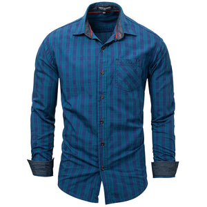Long Sleeve Button Cotton Shirt Top -  Look-fly.ca