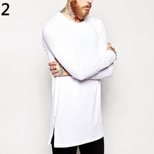 Load image into Gallery viewer, O Neck Long Sleeve Side Zipper Long T-Shirt Tee Top
