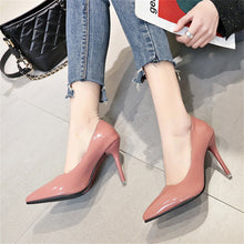 Load image into Gallery viewer, Pointed shallow slim-heeled high-heeled single shoes