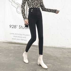 High-Rise Jeans, Slim Stretch,Pencil Pants
