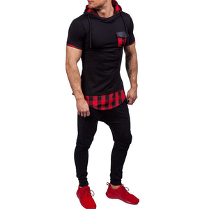 Slim Fit Hoody Hoodie T-Shirt -  Look-fly.ca