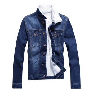 Thicken Denim Jacket Coat -  Look-fly.ca