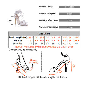 Cross Bandage High Heels Sandals Women Pumps Thin Heel Ruffle Lace Up Summer Shoes
