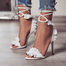 Load image into Gallery viewer, TopSandals Fish-mouth Lace-crossed High-heeled Shoes PLUS SIZE 40 11.5cm heels