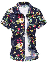 Load image into Gallery viewer, Flower Print Short Sleeve Shirt -  Look-fly.ca