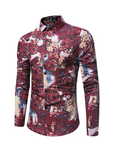 Retro Shirt with Floral Motifs -  Look-fly.ca