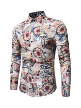 Load image into Gallery viewer, Retro Shirt with Floral Motifs -  Look-fly.ca