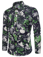 Load image into Gallery viewer, Leaf Print Long Sleeve Shirt -  Look-fly.ca