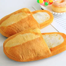 Load image into Gallery viewer, 3D Bread Lovers Adult Slippers Indoor Floor Home Shoes Bedroom Warm Soft Slippers