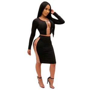 Midi Skirt Women Club Party Dresses