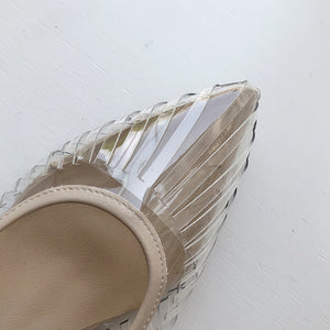 PVC Crystal Heel Transparent Sexy Clear High Heels Summer Sandals Pumps Shoes
