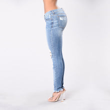 Load image into Gallery viewer, Ripped Jeans Big Elasticity Stretch Trousers Skinny Pants