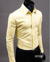 Load image into Gallery viewer, Color Business Slim Fit Social Casual Shirt -  Look-fly.ca