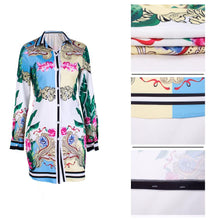 Load image into Gallery viewer, Print Multicolor Shirt Skirt Dress -  Look-fly.ca