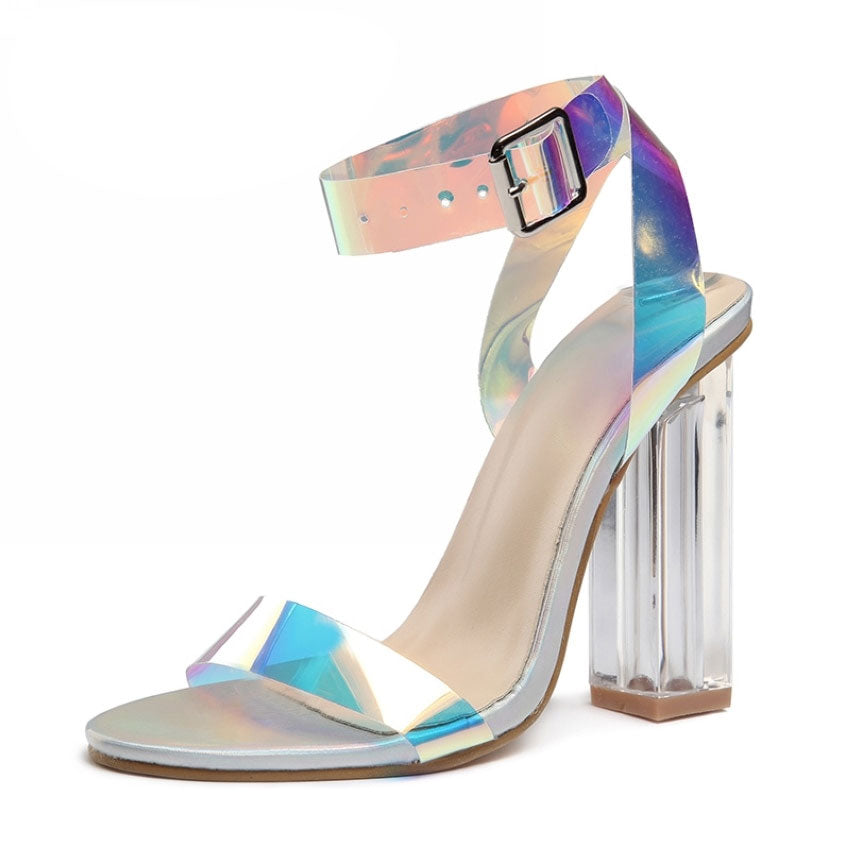 Transparent Heel Sandals Woman Party Shoes Pumps 11CM