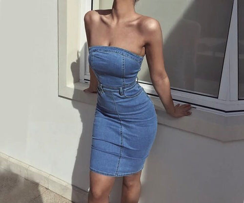 Bodycon Jeans Summer Dresses -  Look-fly.ca