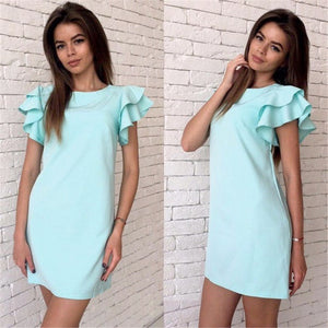 Backless Casual Style Beach Mini Party Club Dresses