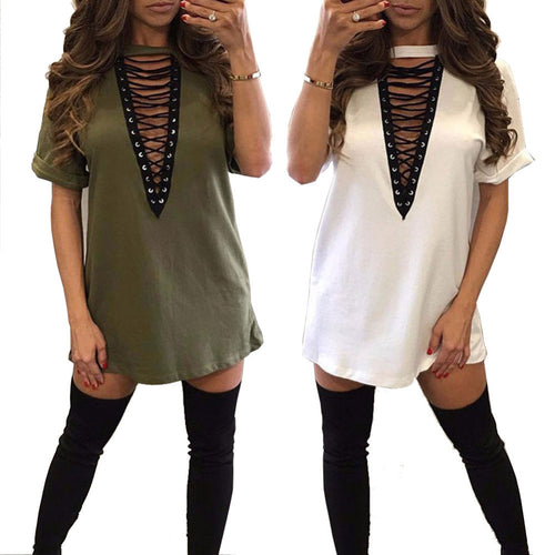 Plus Size Casual T-Shirt Dress Vestidos -  Look-fly.ca