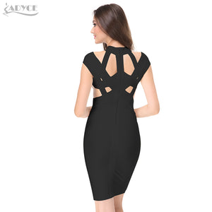 Sexy Bodycon Celebrity Pencil Runway Bandage Dress Vestido