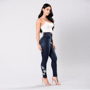 Skinny High Waist Trousers -  Look-fly.ca