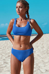Solid Blue Bathers Bathing Suit -  Look-fly.ca