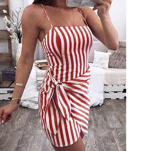 Women Sexy Casual Summer Mini Dress Club Wear Evening Party Bodycon Sleeveless