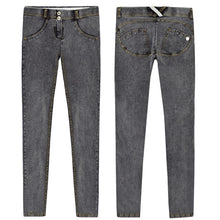 Load image into Gallery viewer, Elastic Grey Jeans Plus Size -  Look-fly.ca