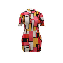 Load image into Gallery viewer, Color Block Mini Dress S-2XL -  Look-fly.ca