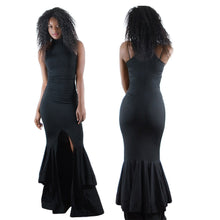 Load image into Gallery viewer, Sleeveless Ruffled Bodycon Summer Maxi Dress