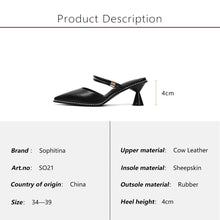 Load image into Gallery viewer, Genuine Leather Buckle Strap Solid Shoes Fashion Med Strange Style Heel Sandals