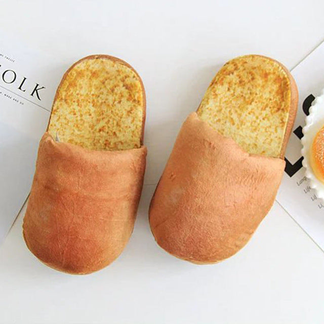 3D Bread Lovers Adult Slippers Indoor Floor Home Shoes Bedroom Warm Soft Slippers
