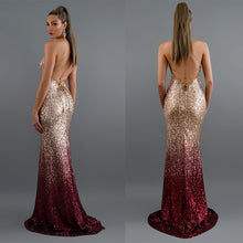 Load image into Gallery viewer, Mermaid Maxi Gold Evening Party Dress -  Look-fly.ca