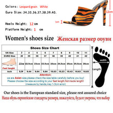 Load image into Gallery viewer, Lady Flock Sexy Pumps 12cm Summer Pointed Feminino Slippers Sandals