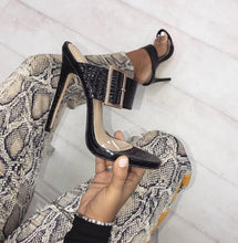 Load image into Gallery viewer, Thin Heels Sandal Buckle Slides Shoes