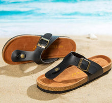 Load image into Gallery viewer, Slippers Flip Flops Summer Beach Cork Shoes Slides Girls Flats Sandals Casual Shoes