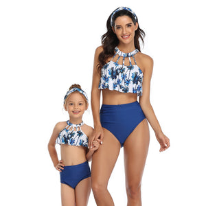 Bikini Set Female Retro Swimwear Push Up Bathing Suit