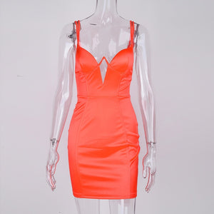 Sexy Orange Party Bodycon Dresses
